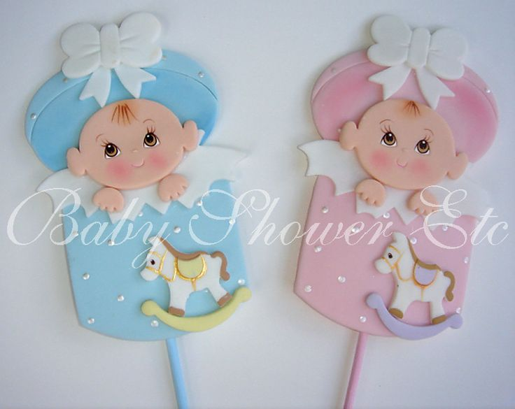 "Baby Shower Baby In Gift Box Party Pic Decorations or Party Favors - Baby measures 5"" Tall X 3"" Wide on 8"" Party Pic $7.50"