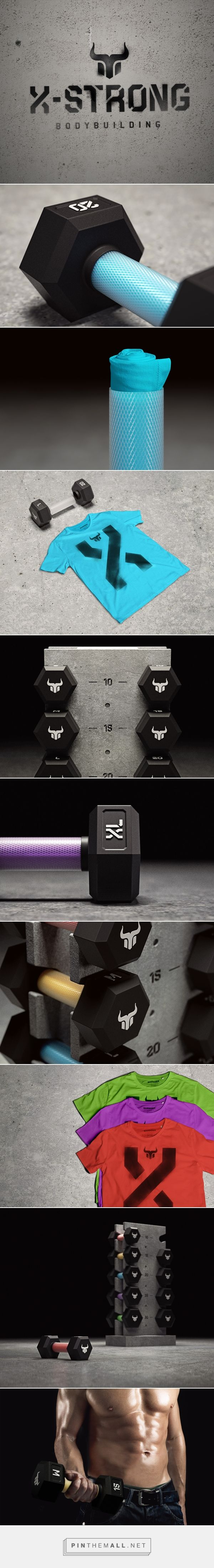 Dumbbells Concept on Behance curated by Packaging Diva PD. Cool concept idea for T-Shirts packaging.
