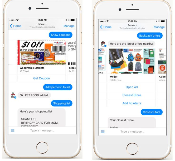 Local deals startup Retale launches a Facebook Messenger bot! Use the Retale app and our bot to find exactly what you need from your local retailer.