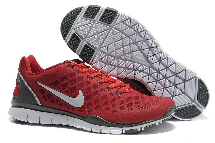 Cheap Nike Free Run Tr Fit Red Black Men Shoes YPAItUnA