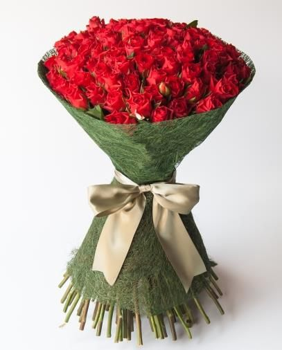 Eternal love (100 roses)A phenomenal bouquet of long stemmed red roses.  Bespoke Bouquet, Flower delivery service, Johannesburg