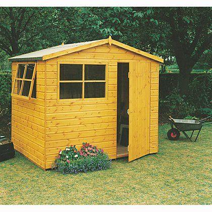 Fairwood Wroxham Garden Shed - 8 x 6ft | Sheds & Buildings | George at ASDA