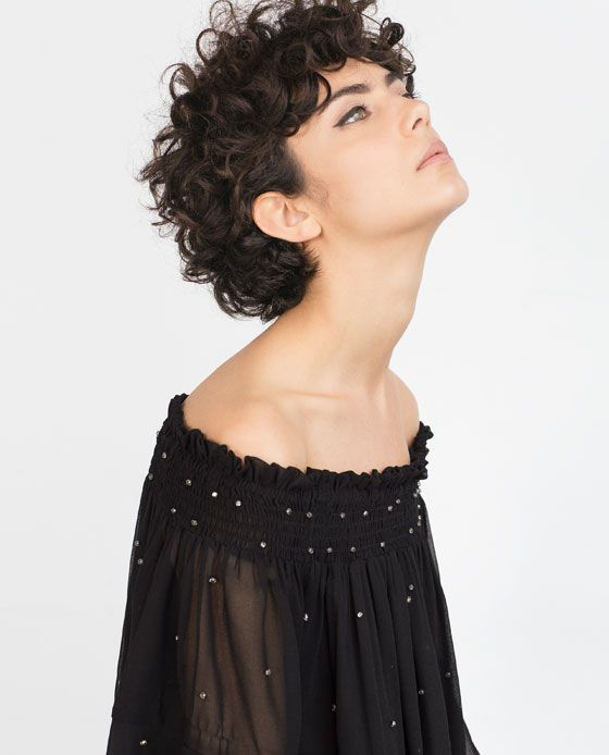 SEQUINNED BLOUSE