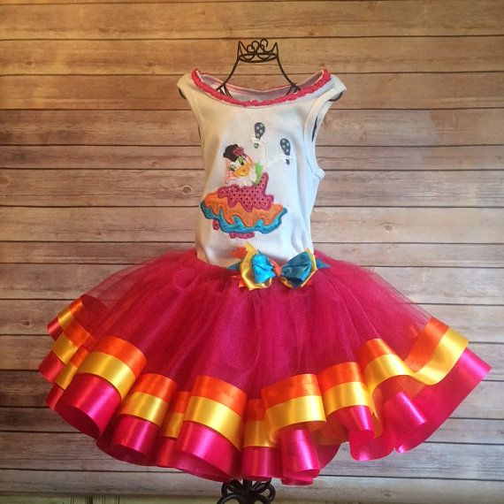 Fiesta or Cinco de Mayo Daisy Duck Tutu Costume by SnappyGirls