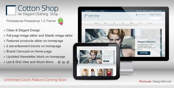Cotton Shop - Elegant Prestashop 1.5 Theme