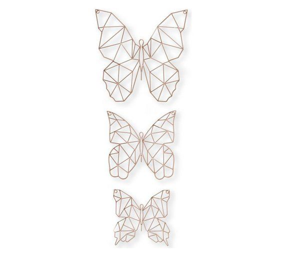 Buy Graham & Brown Set of 3 Flutter Metal Wall Art - Rose Gold at Argos.co.uk, visit Argos.co.uk to shop online for Pictures and wall art, Wall art, pictures and photo frames, Home furnishings, Home and garden