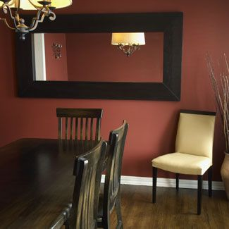 16 stunning ways to redecorate your dining room paint for Large dining room mirror
