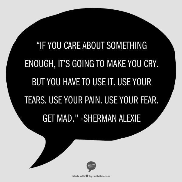 an essay on sherman alexie s use Sherman alexie's what you pawn i will redeem reading response #1 how has sherman alexie managed to detach jackson jackson from his present predicament, and what is the effect of this on the reader.
