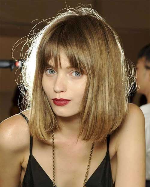 mid hairstyle bob with bangs - Google Search
