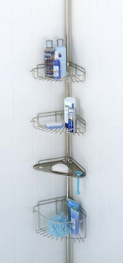 mainstays tension pole shower caddy instructions