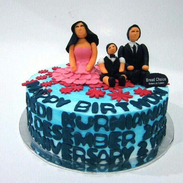 3D characters birthday cake by Bread Choice Bakery (Instagram: @breadchoicebakery)