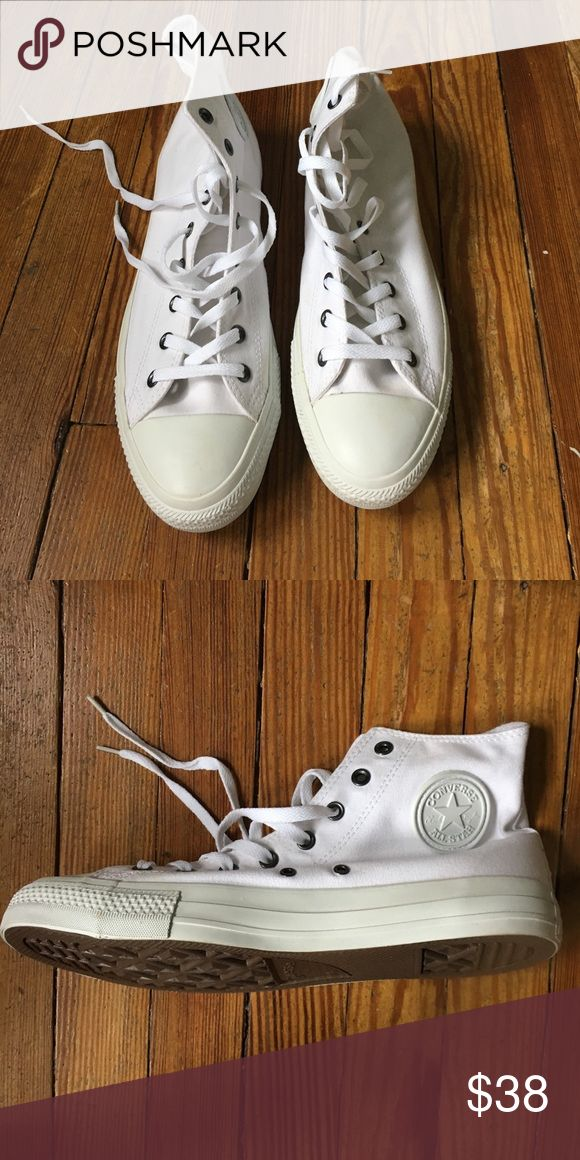 Men's all white converse Never worn, all white men's converse Converse Shoes Sneakers