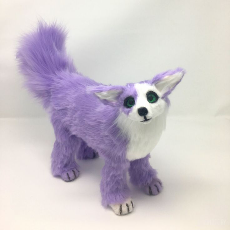 Kora the lilac fennec fox poseable art doll