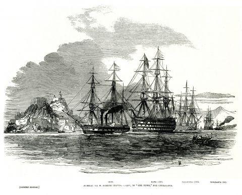 Ο αρχηγός του βρετανικού στόλου Ουΐλιαμ Πάρκερ, επικεφαλής της επιχείρησης αποκλεισμού του λιμανιού του Πειραιά λόγω της υπόθεσης Πασίφικο, αναχωρεί από την Κέρκυρα τον Ιούνιο του 1847.