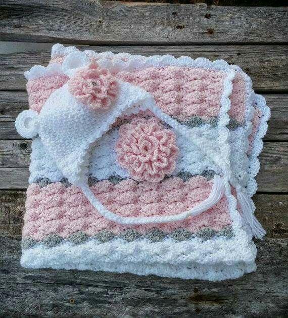 Best 219 Mantas para bebés images on Pinterest | Häkeldecken ...