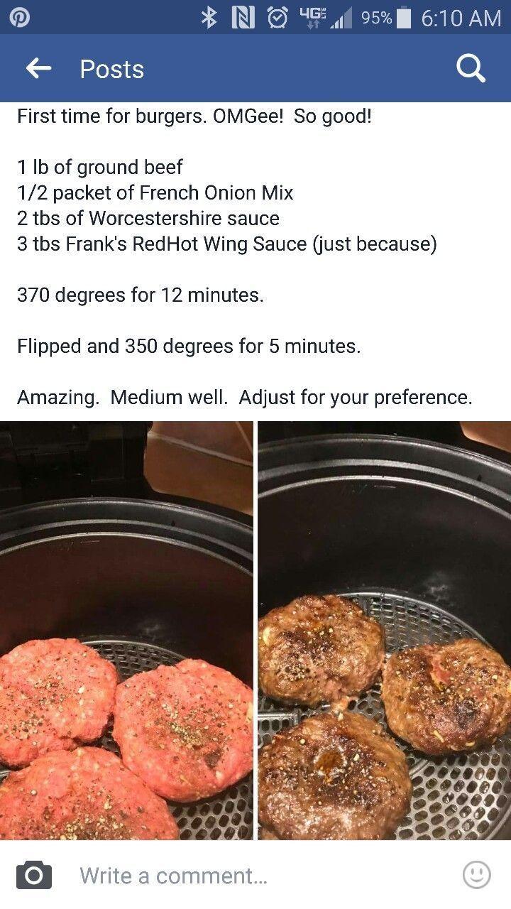 air fryer recipes Air fryer hamburger Air fryer recipes