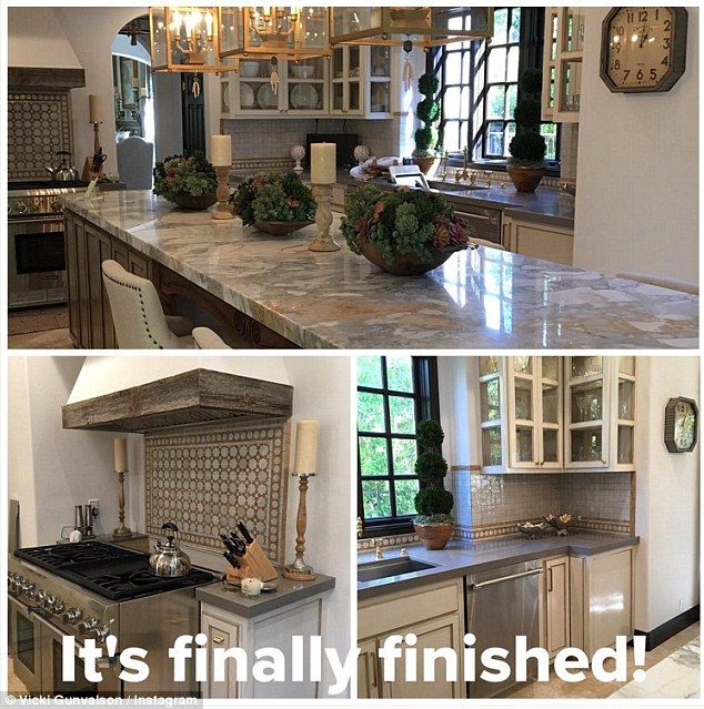Fresh start: Real Housewives of Orange County star Vicki Gunvalson has shared photos of her newly remodeled kitchen on Instagram