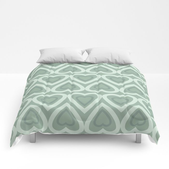 Our Lightweight Warm Comforters Induce Sweet Sweet Sleep And Take Your Bedding To The Next Level Designs Are Print Green Comforter Comforters Pastel Green