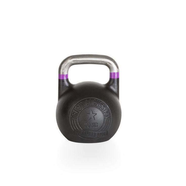 Original Russian Kettlebells - Competition - Wettkampfkettlebell 20 kg. Die Competition-Kettlebell ist besonders robust und langlebig. Der blanke, unlackierte Griff mit Farb-banding ist glatt geschliffen und gewährt ein professionelles und sicheres Handling. Details hier:: http://www.megafitness-shop.info/Kraftsport/Hanteln-Gewichte/Kettlebells/KB-Professional/Original-Russian-Kettlebell-Competition-8-48-kg--1670.html #kettlebell #kugelhantel