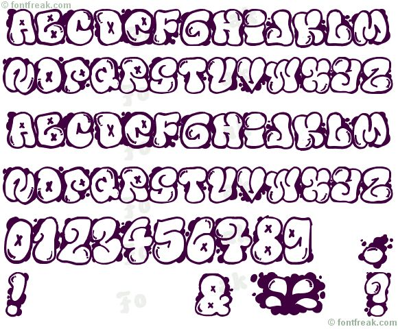 bubble letter fonts - Etame.mibawa.co