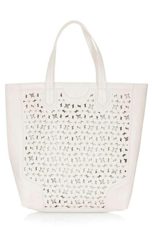Topshop | Daisy Cutout Tote Bag #topshop #tote #bag