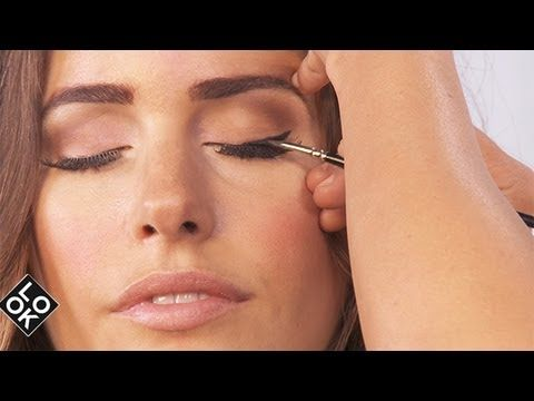 Audrey Hepburn inspired thick eyeliner is back in style according to makeup expert Rachel Wood, personal makeup artist to Look TV star Louise Roe. In this episode of Beauty School, Rachel shows us how to create the perfect cat eye look from start to finish. Don't miss out on these makeup tips for applying eyeliner, mascara, and eye shadow! Thumb...