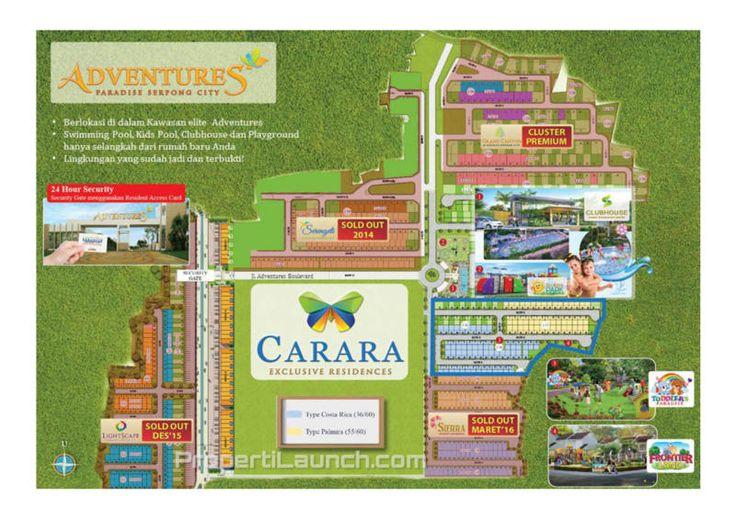 Master Plan Paradise Serpong City cluster Carara.