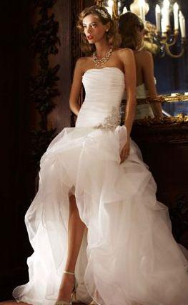 High Low Galina Signature Wedding Dress David Nilsson Shack Bridal So Beautiful