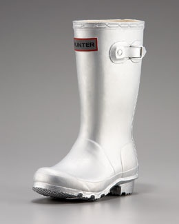 silver wellies for the girl.