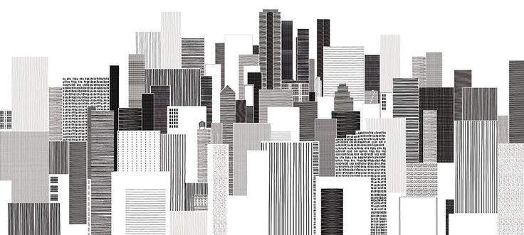 CITY SCAPE - Papier peint géant. SCENOLIA, votre décoration en grand