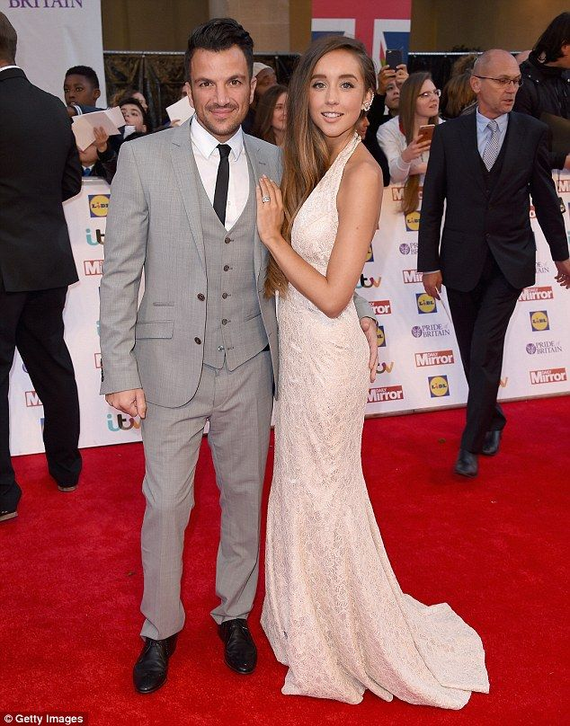 Cheeky!Peter Andre and Emily MacDonagh still looked very much in the honeymoon stage as they stormed the red carpet at the Pride Of Britain Awards in London on Monday night