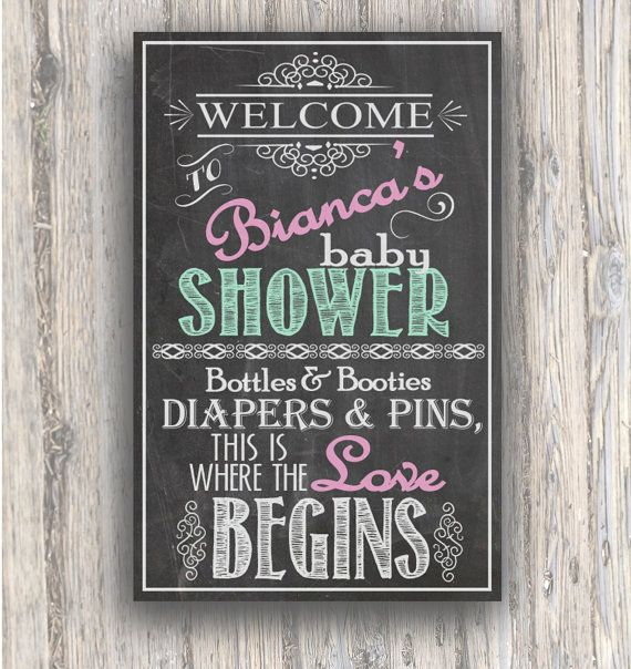 Baby Shower Entrance sign - Chalkboard style