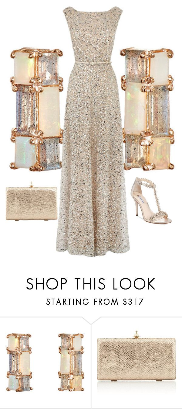 """""""Opals!"""" by easy-dressing ❤ liked on Polyvore featuring Nak Armstrong, Vivienne Westwood, INC International Concepts, Opal, polyvoreeditorial, metallicdress and metallicgown"""