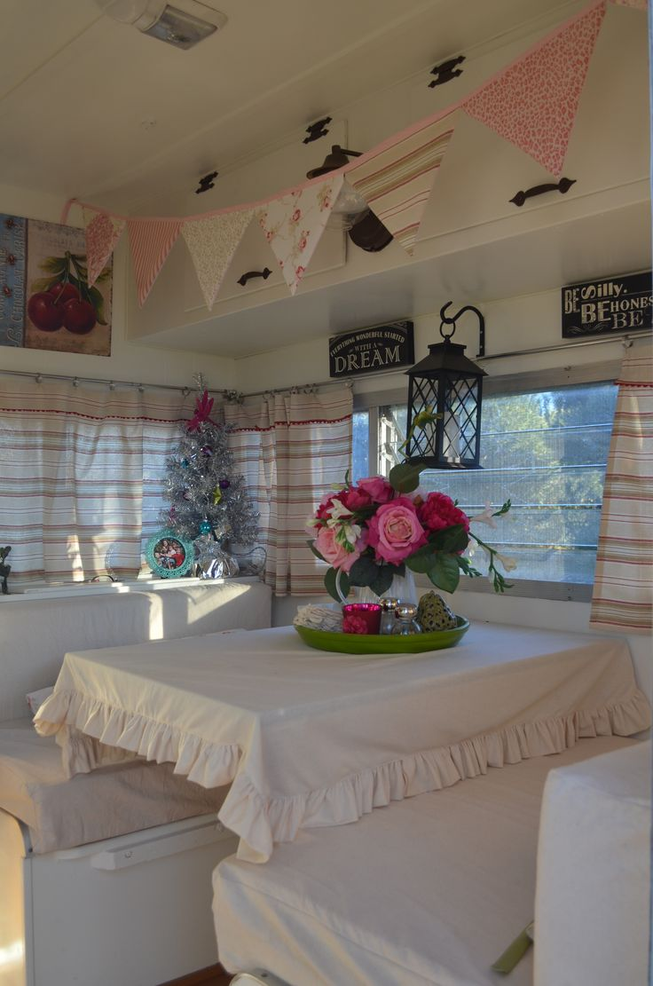 Glamping, glamper, travel trailer, shabby chic
