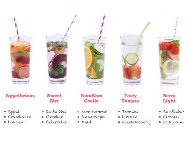 5 Recepten voor Detox Water