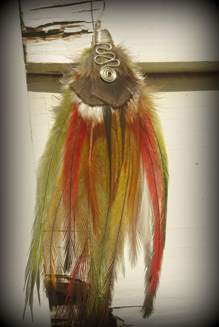 Single feather earring made with naturally shed feathers and lots of love...:)