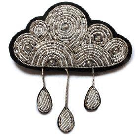 Cloud brooch #fashion #brooch #beading £30.50