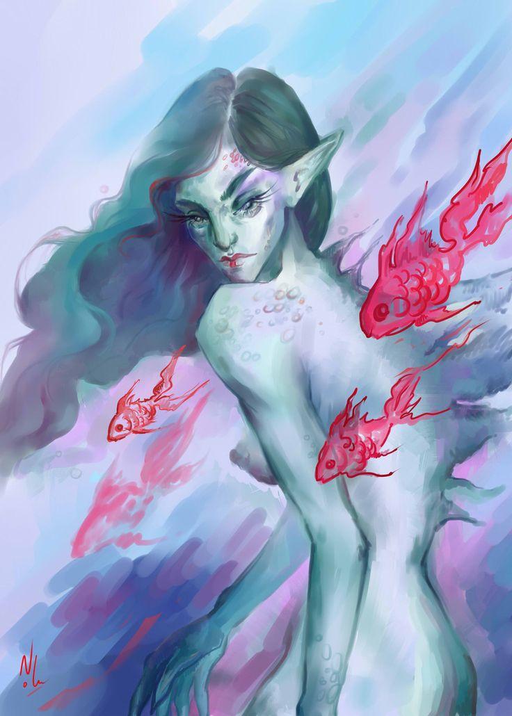 Nolu #noluart #digital #art #illustration #sea #girl #fantasy