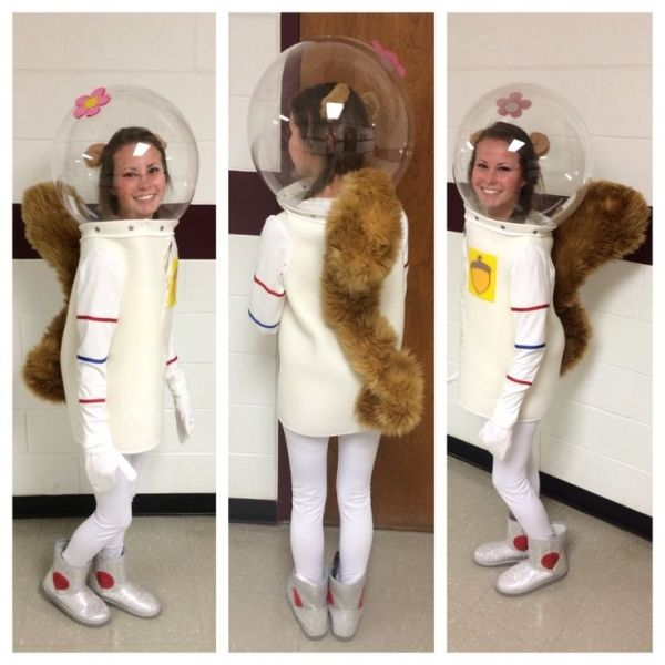 Character Day, Spirit Week, Sandy Cheeks Costume, DIY, Sewing, Spongebob Squarepants, Halloween by muriel