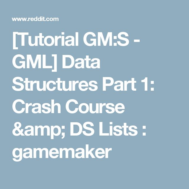 tutorial gms gml data structures part 1 crash course