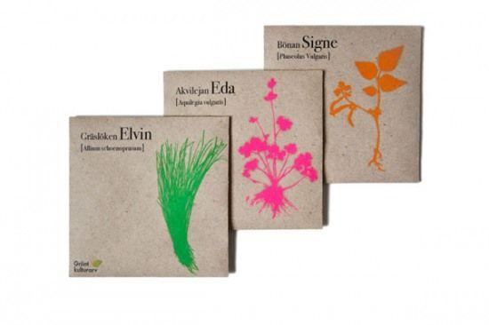 Seed bags for Grönt Kulturarv, by Hanna Tunemar