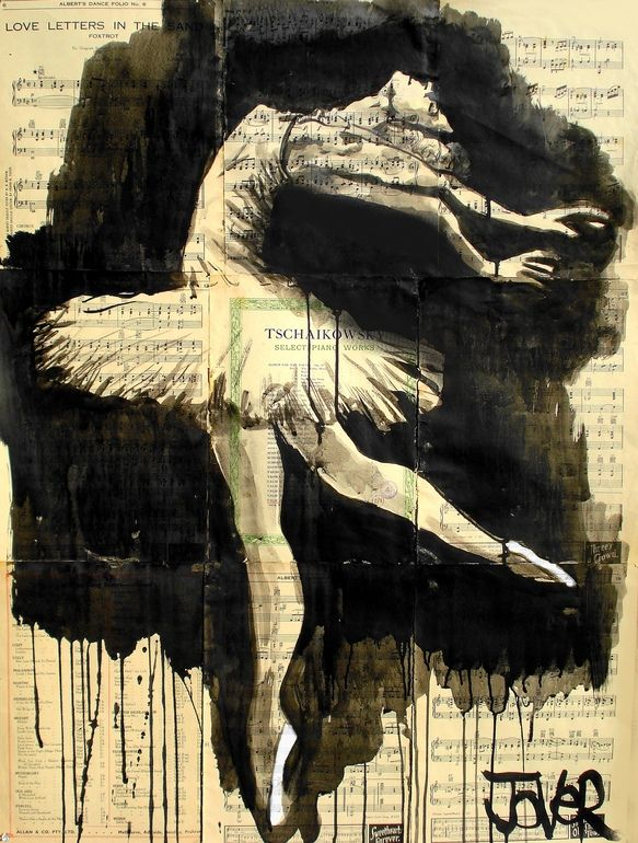 "Saatchi Online Artist: Loui Jover; Pen and Ink, 2013, Drawing ""in the moment"" great example of negative painting"