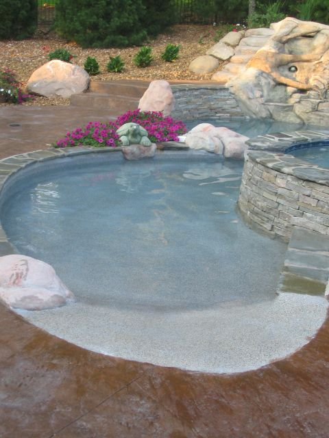 Play Pool With Beach Entry Inground Google Search Pools To Splash In Pinterest Swimming