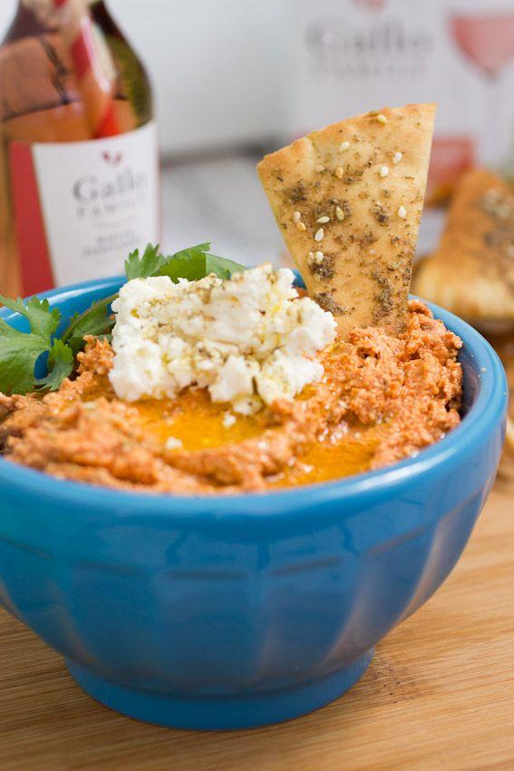 Sun-dried Tomato and Feta Dip #SundaySupper @littleredkitchn