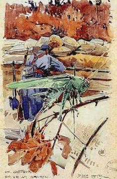 Un guetteur, Bois de la Gruerie, 1915.
