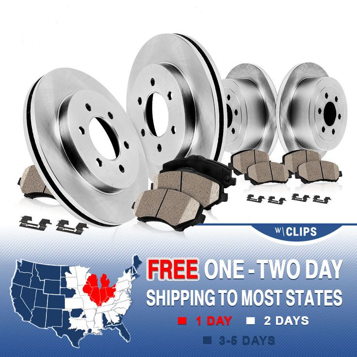 Front Rear Rotors Ceramic Pads Clips 2006 2007 2008 2009 2010 HUMMER H3 H3T