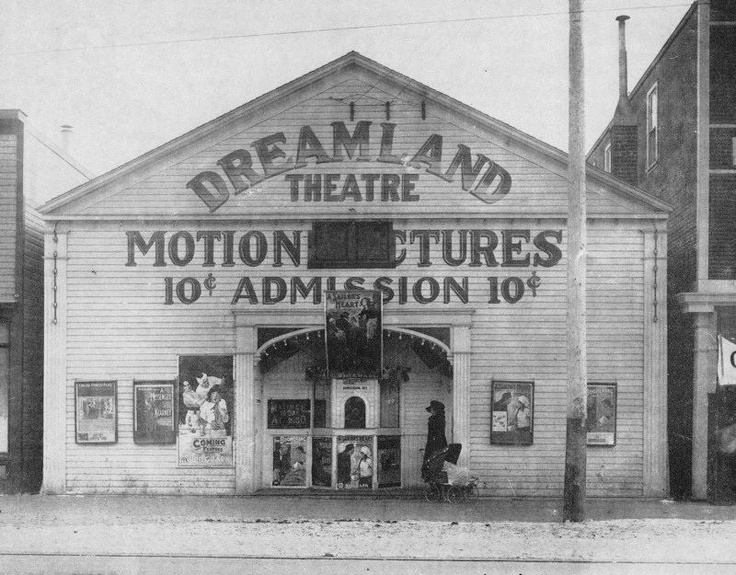 Dreamland Theatre,possibly located at 9697 Jasper Avenue.  1912.  Image Courtesy of Vintage Edmonton   https://www.facebook.com/TheVintageEdmonton