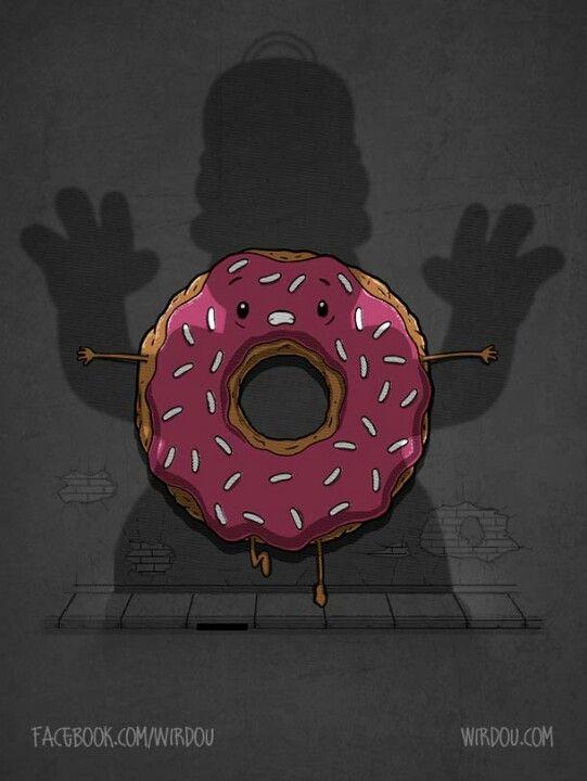 Homero y una rosquilla