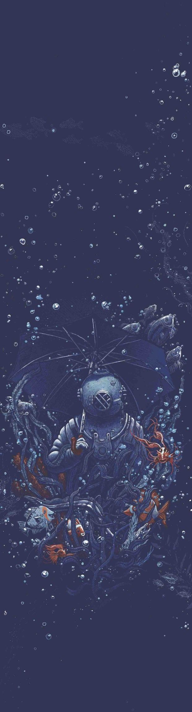 Under the Sea by Georges Le Mercenaire  #illustration  Like what you see?  Follow me: www.JoshCampbellPhoto.com