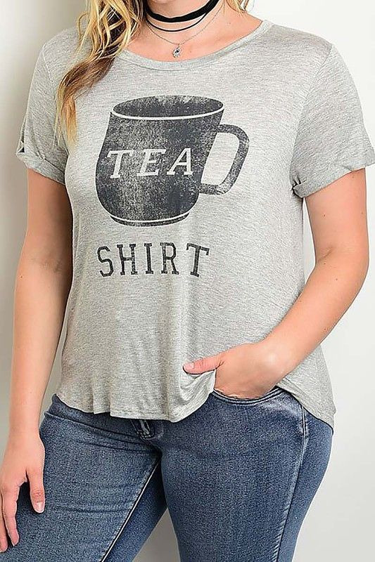 This is a very special Tea Shirt... we love the irony of this graphic. Go ahead be the clever Tea Shirt wearer in the room. Fits casual Size: XL, 2XL 3XL Material: Rayon and spandex